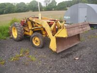 international b 40-1 tractor four way bucket starts runs and drives