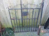 Single garden gate wrought iron comes with iron post