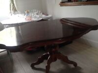 Highly polished inlaid table