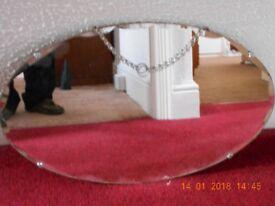 Oval bevel edged mirror