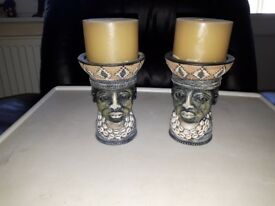 Miscellaneous African - Tribal style candle holders