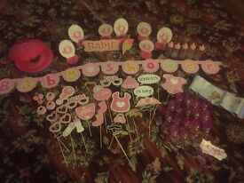 Baby shower girl decoration