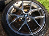 """18"""" BBS SR Satin Grey Alloy Wheels 225/45/18 ZR Nexen N8000 Tyres x 4"""