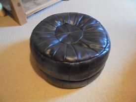 A Brown Leather Puffy.#2