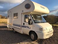 Motorhome 2002 fiat 5 berth low miles px considered