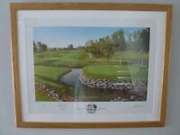 Signed Ryder Cup 2008 Print by Graeme Baxter and Sir Nick Faldo