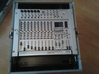 Behringer Eurorack mx1804x Mixing Desk and Flight Case. NEVER USED