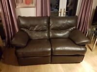 Leather 2 seater sofa for free