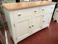 NEXT DAY DELIVERY New oak and ivory 3 door sideboard £439