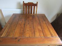 Granary Royale Solid Wood Dining Table with four chairs