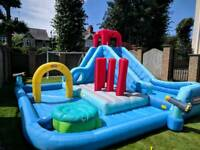 Little Tikes Inflatable Deluxe Water Park & Bouncy Castle Pool