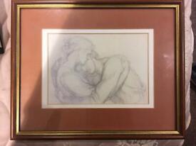 Framed print - two lovers