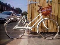 Vintage ladies bike – restored and re-painted 1977 Triumph Traffic Master bicycle.