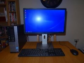 "Pc Dell Optiplex 7010 Intel i5 3.2 Ghz 12Gb Ram 2TB HDD 22"" Dell HD Monitor Microsoft Office"