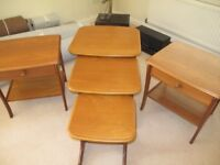 Lamp Tables x2 and Nest tables St.Austell