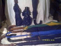 """UMBRELLAS , LADIES & GENTS a COLLECTION of EIGHT """" 8 """" £ 5 . EACH , TAKE YOUR PICK."""