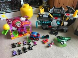 Imaginext Batcave and Joker set + lots of figures
