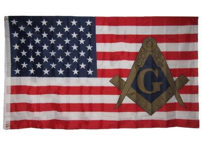 3x5 USA American Mason Masonic Lodge Polyester Flag 3'x5' Banner Grommets