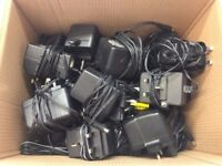 MIXED JOB LOT X31 POWER SUPPLY UNITS 12V,9V,5V,16V,22V,7.5V,15V