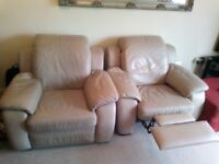 2x leather reclining chairs FREE