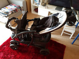 GRACO DOUBLE PRAM, GOOD CONDITION. ALSO AVAILABLE THE CAR SEAT (NEW!)