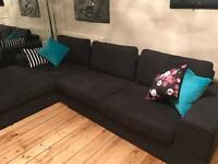 Charcoal Dwell corner chaise sofa