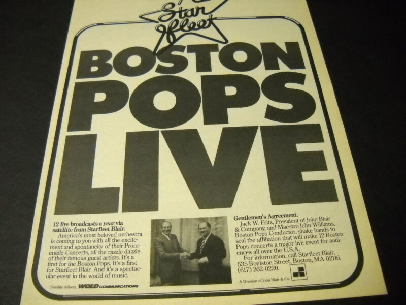 BOSTON POPS Live with JOHN WILLIAMS vintage PROMO POSTER AD mint condition
