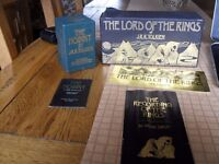 LORD OF THE RINGS CENTENARY EDITION CASSEITE SET PLUS THE HOBBIT TAPE SET