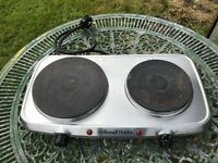 Russell Hobbs Portable 2 Ring Plate Mini Stove Hob Cooker