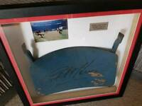 Sir Geoff Hurst signed Wembley seat, nicley framed, with full coas.
