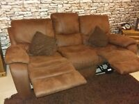 x2 3 Seater suade recliners!