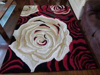 Rose embossed rug (large)