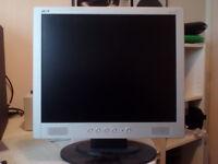 """2 x Acer computer monitors 17"""" (model AL1714sm)"""
