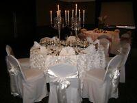 Wedding Chair Covers Venue Decor DIY option Chair Cover 1.00 each Sash /Tie 0.25 each