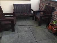 Garden bench chairs