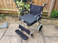 Ultra Lightweight Aluminium Wheelchair - Handle Bar Brakes - Wheel chair