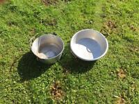 2 large cooking/preserving pans