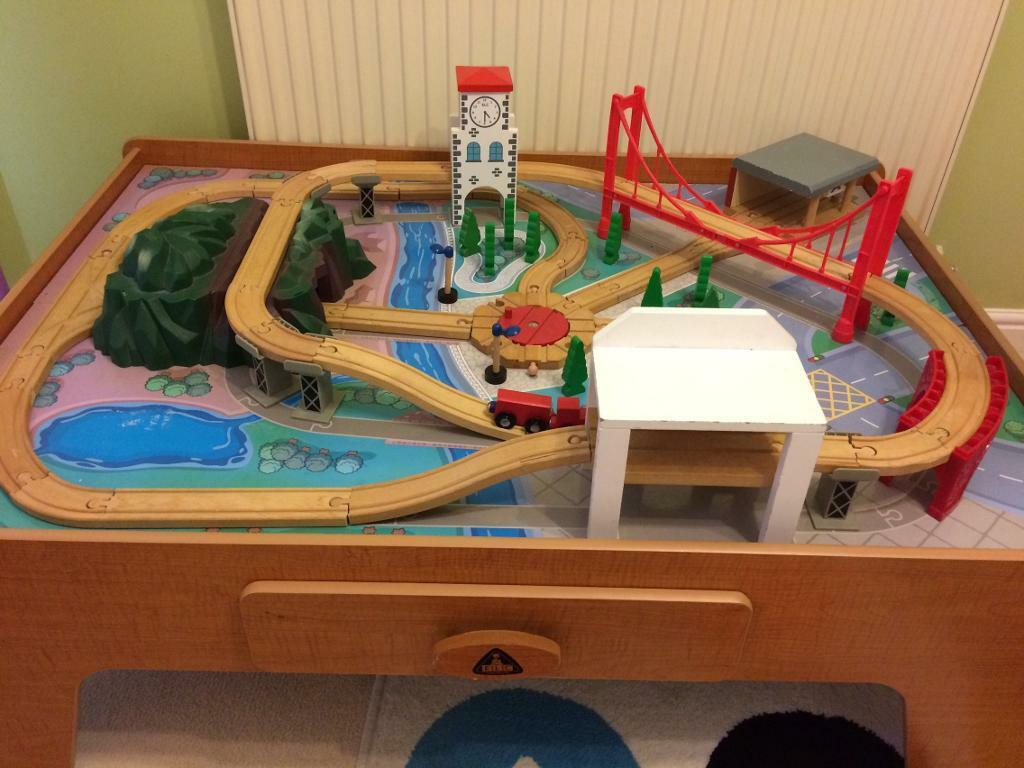 ELC Big City Wooden Train Table REDUCED | in Morley, West Yorkshire ...