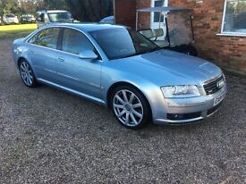 Audi A8 4.2 V8 Quattro 4dr (LWB) Triptronic,Full History,MOT Jan 2018,Every extra,Well looked after
