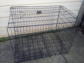 Steel mesh dog cage, LARGE , for outdoor use - or in a VAN