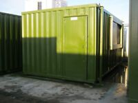 16ft x 10ft Anti Vandal Portable Cabin Site Office LIGHTS & HEATING shipping container shed store