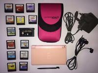 PINK NINTENDO DS LITE BUNDLE!! INCLUDING BOX