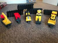 Caterpillar Toy Train Track with detachable dumper and digger