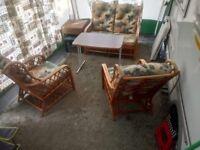 Cane Furniture 3 piece set
