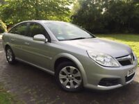 2007 Vauxhall Vectra 1.8i VVT Design 5dr in star silver with half leather interior just had a valet