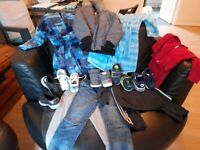 Selection of clothes and shoes