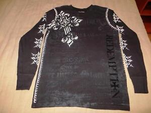 New Raw State Redemption Men's Long Sleeve Thermal Tattoo Afflic