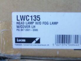 peugeot 307 headlamps