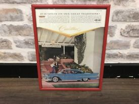Framed Iconic Cadillac Car Print Picture