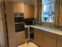 Wellmann fitted kitchen, Whirlpool double cooker, fan, fridge ,freezer, Schott hob LG washer dryer